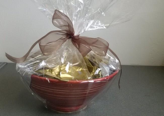 wrapped bowl